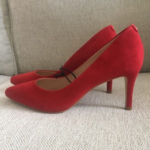 Kate Spade Red Suede Leather Heels